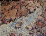 mountain original paintings - mountain torrent by egon schiele