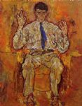 egon schiele portrait of albert paris von gutersloh painting