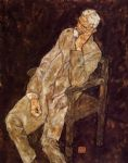 egon schiele portrait of an old man johann harms posters