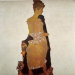 portrait of gerti schiele by egon schiele art