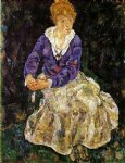 egon schiele portrait of the artist s wife seated painting 34602