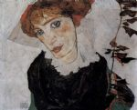 egon schiele portrait of valerie neuzil paintings