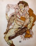 egon schiele seated couple painting 34757