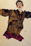 egon schiele self portrait with outstretched arms painting-34658