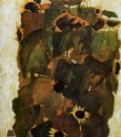 egon schiele sunflowers prints