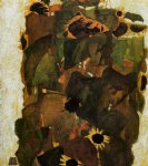 sunflower original paintings - sunflowers by egon schiele