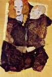 egon schiele acrylic paintings - the brother by egon schiele