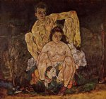 egon schiele acrylic paintings - the family by egon schiele