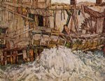 egon schiele acrylic paintings - the mill by egon schiele