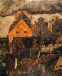 egon schiele the old city painting