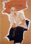 egon schiele acrylic paintings - the scornful woman by egon schiele