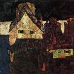 egon schiele the small city painting