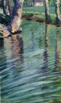egon schiele trees mirrored in a pond painting 34767
