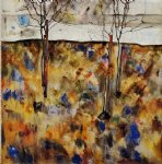 egon schiele winter trees painting 34727