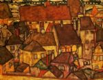 egon schiele yellow city painting