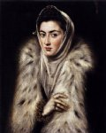 el greco a lady in a fur wrap painting 34331