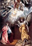 annunciation iii by el greco painting
