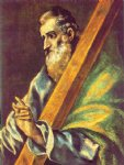 apostle st andrew ii by el greco painting