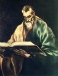 apostle st simon by el greco painting