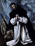 st dominic in prayer by el greco art