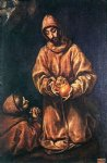 el greco st francis and brother rufus art