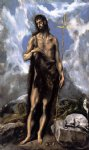 st. john the baptist by el greco painting