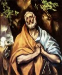 st peter in penitence by el greco painting