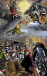 jesus original paintings - the adoration of the name of jesus ii by el greco