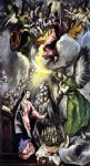the annunciation 4 by el greco painting