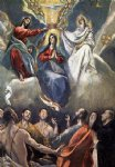 the coronation of the virgin ii by el greco watercolor paintings