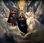 the coronation of the virgin iii by el greco painting