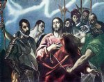 the disrobing of christ by el greco watercolor paintings