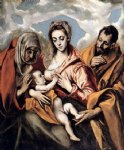 el greco the holy family iii painting