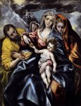 el greco the holy family with st mary magdalen painting