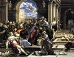 cat acrylic paintings - the purification of the temple ii by el greco