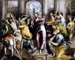 cat acrylic paintings - the purification of the temple iii by el greco