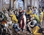 cat famous paintings - the purification of the temple v by el greco