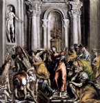 cat acrylic paintings - the purification of the temple by el greco