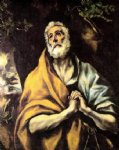 the repentant peter by el greco painting