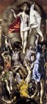 the resurrection by el greco painting