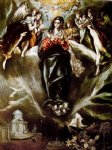 the virgin of the immaculate conception ii by el greco painting