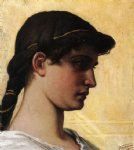head of a roman maiden by elihu vedder painting