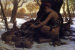 elihu vedder art - marsyas enchanting the hares by elihu vedder