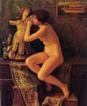elihu vedder watercolor paintings - the venetian model by elihu vedder