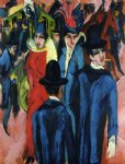 ernst ludwig kirchner watercolor paintings - berlin street scene by ernst ludwig kirchner