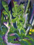 ernst ludwig kirchner artwork - mountain forest by ernst ludwig kirchner
