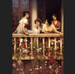 eugene de blaas watercolor paintings - balcony by eugene de blaas