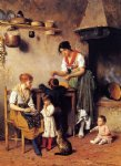 eugene de blaas acrylic paintings - mother s little helper by eugene de blaas