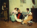eugene de blaas watercolor paintings - the friendly gossips by eugene de blaas