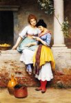 eugene de blaas acrylic paintings - the love letter by eugene de blaas